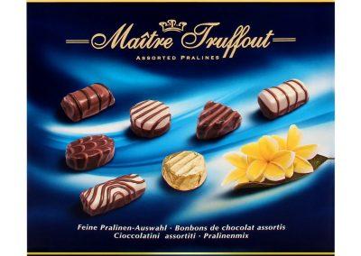 Бонбони с пълнеж асорти синя Maitre Truffout 200 г