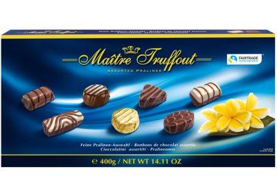 Бонбони с пълнеж асорти синя Maitre Truffout 400 г