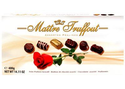 Бонбони с пълнеж асорти роза Maitre Truffout 400 г