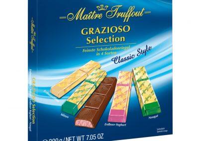 """Шоколадови бонбони Грациозо """"Селекшън"""" - синя кутия Maître Truffout 200 г"""